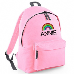 Personalised RAINBOW Rucksack  (BG125)
